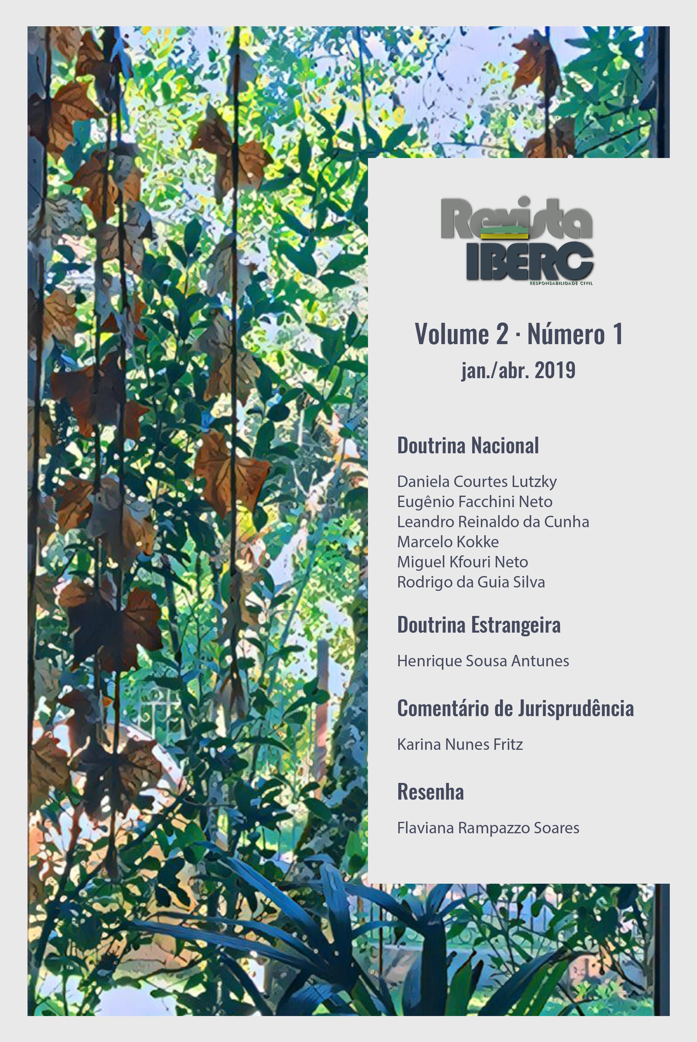 Capa da Revista IBERC - Volume 2 - Número 1